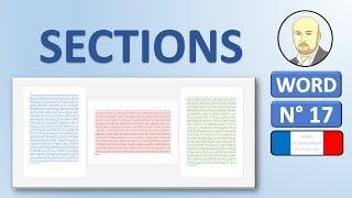Word 17 - Comment mettre une page en paysage au milieu de pages en portrait