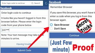 Solved Facebook Login Approval | Code Few Minute Receive My Number | Without Documents & Appeal 2018