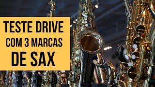 Teste Drive com 3 saxofones