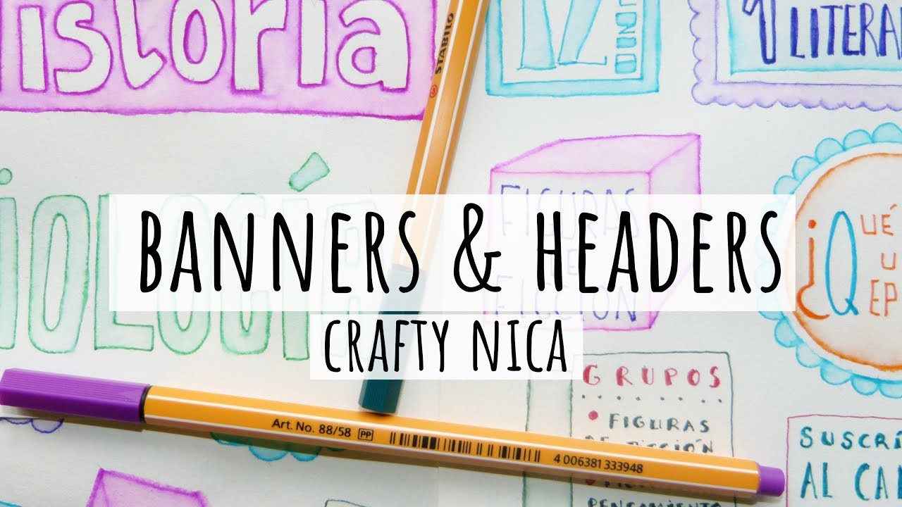 TAKING CUTE NOTES BANNERS DECORATIVE HEADERS Designs For School Projects