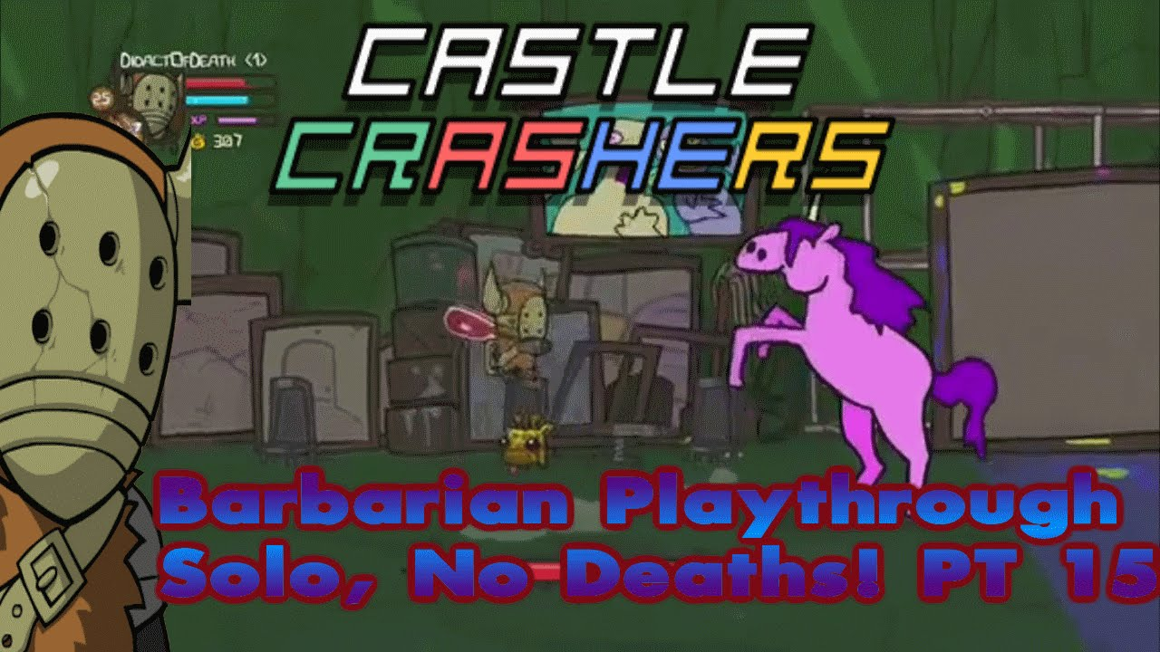 Castle Crashers Remastered Solo, 0 Deaths & Live Commentary  (Part 15)