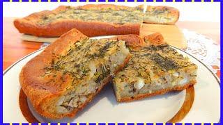 Рыбный пирог с рисом и яйцом