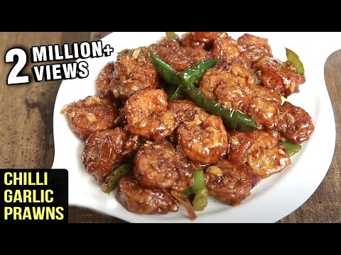Chilli Garlic Prawns Recipe | Delicious Chilli Garlic Prawns | Seafood Starter Recipe By Tarika