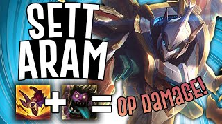 SETT IN ARAM IS BROKEN!! - Sett ARAM - League Of Legends
