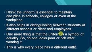 Describe a uniform you wear (a…