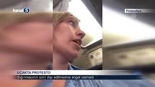 Uçakta Protesto Finlandiya