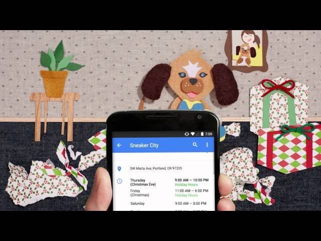 Google Maps: save time with up-to-date holiday business hours