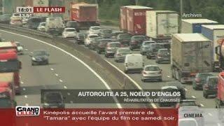 Début des travaux de l'autoroute A25