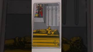 The Four of Swords as Feelings in a Love Reading