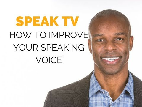 How to Improve your Speaking Voice (Public Speaking Tip)