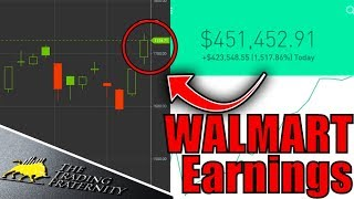Day Trading Live, Stock Market News & Trading Options! – WalMart Earnings & Trade Talks