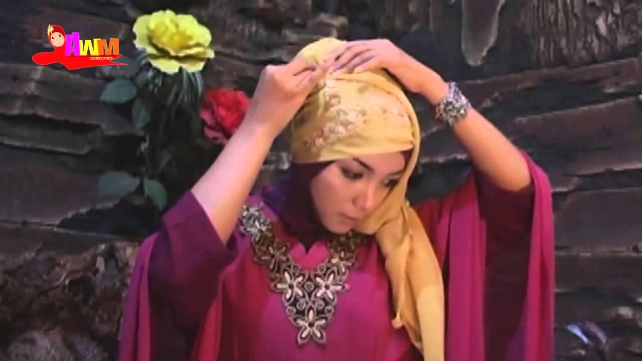 Tutorial Cara Memakai Jilbab Pesta Segi Empat Modern YouTube