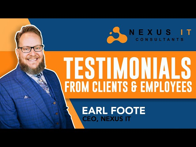Testimonials From Clients & Employees   Nexus IT Consultants  