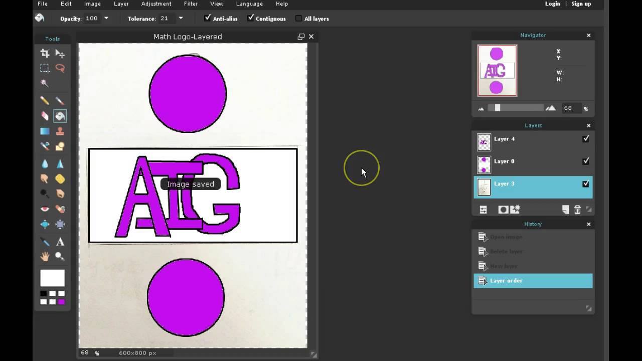 Pixlr Tutorial Save And Open An Image With Layers Youtube