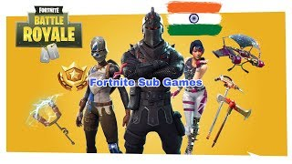 Sub games right now || Fortnite india || New giveaway || !vcoins || 500+wins