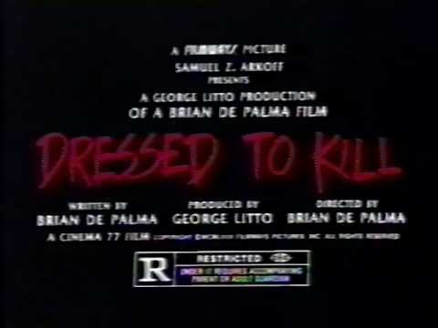 Dressed to Kill trailers