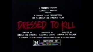 Dressed to Kill 1980 TV trailer #2