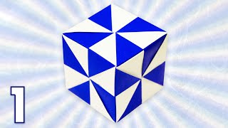 Origami Pinwheel Cube (Folding Instructions) - Part 1