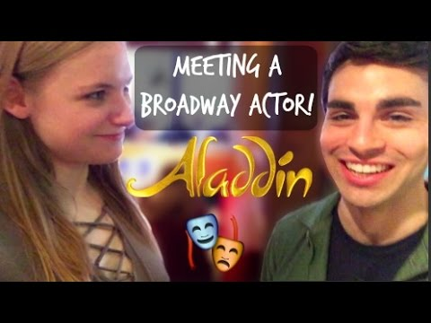 MEETING A BROADWAY ACTOR FROM ALADDIN + MERCH HAUL