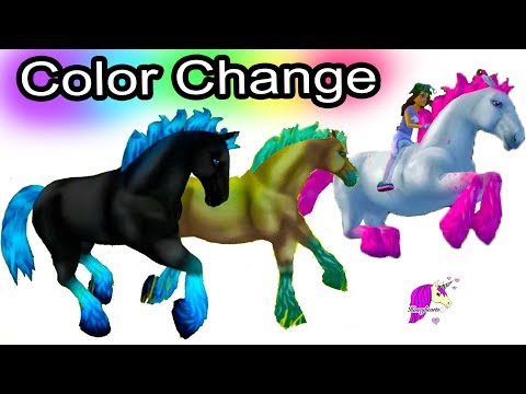 Magic Color Changing Horses ! Color Change Jorvik Wild Horse Star Stable Online Game Play