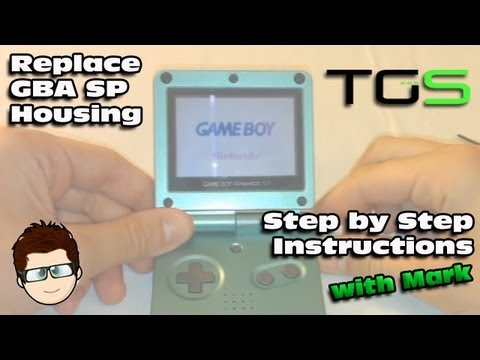 How to replace a Nintendo Gameboy Advance SP Housing