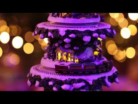 Thomas Kinkade Wonderland Express tabletop Christmas tree