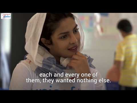 Priyanka Chopra Speech at UNICEF – English Subtitles – Learn English with Famous People