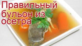 Рецепты из осетра - как приготовить осетра пошаговый рецепт - Правильный бульон из осетра