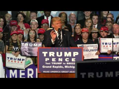 Donald Trump last campaign speech ahead of US presidential election