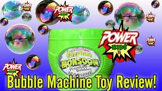 Bubble Machine Toy Review by Power Kids Tv