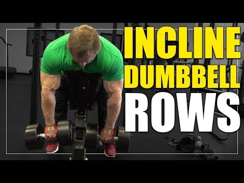 Exercise Index   Incline Dumbbell Rows