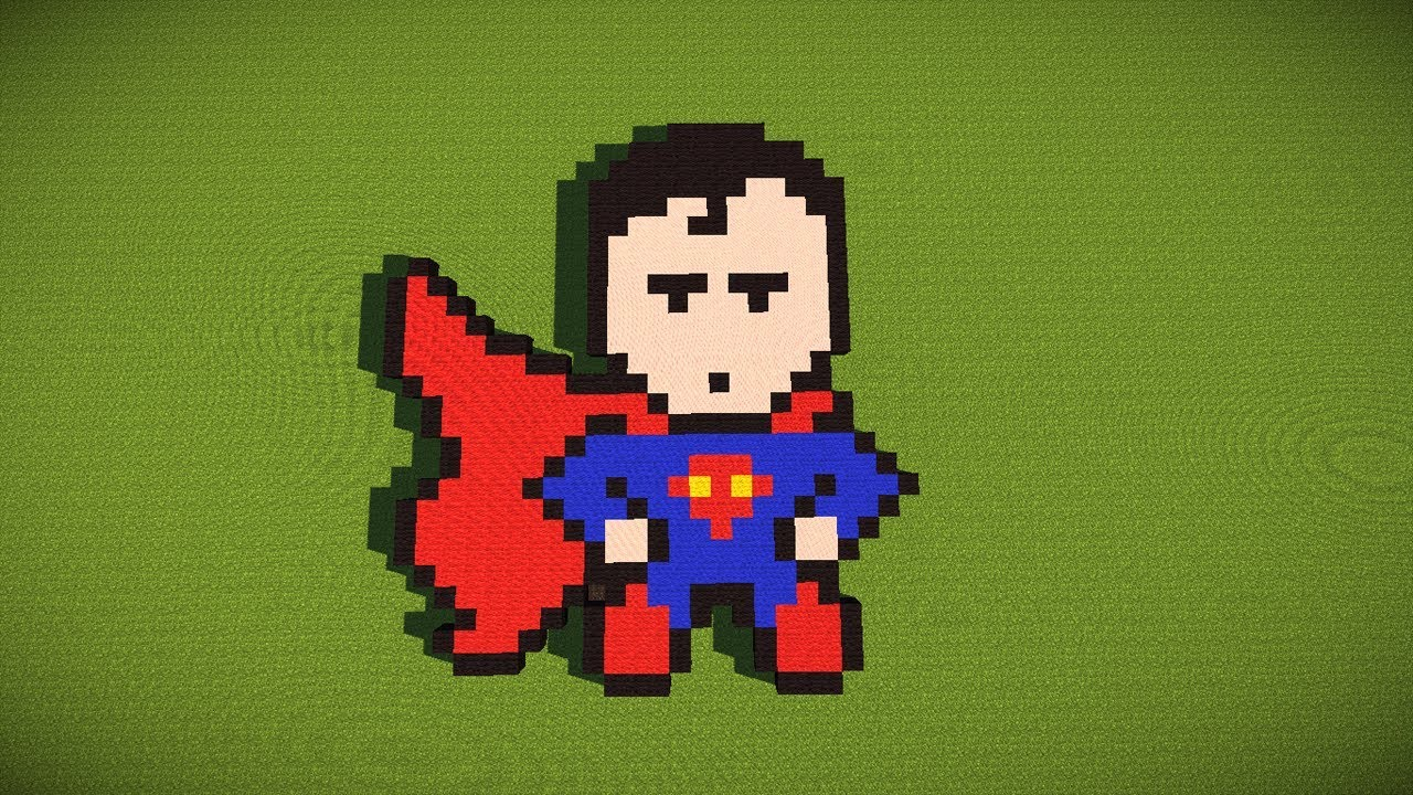 Minecraft Superman Pixelart Google Ep8