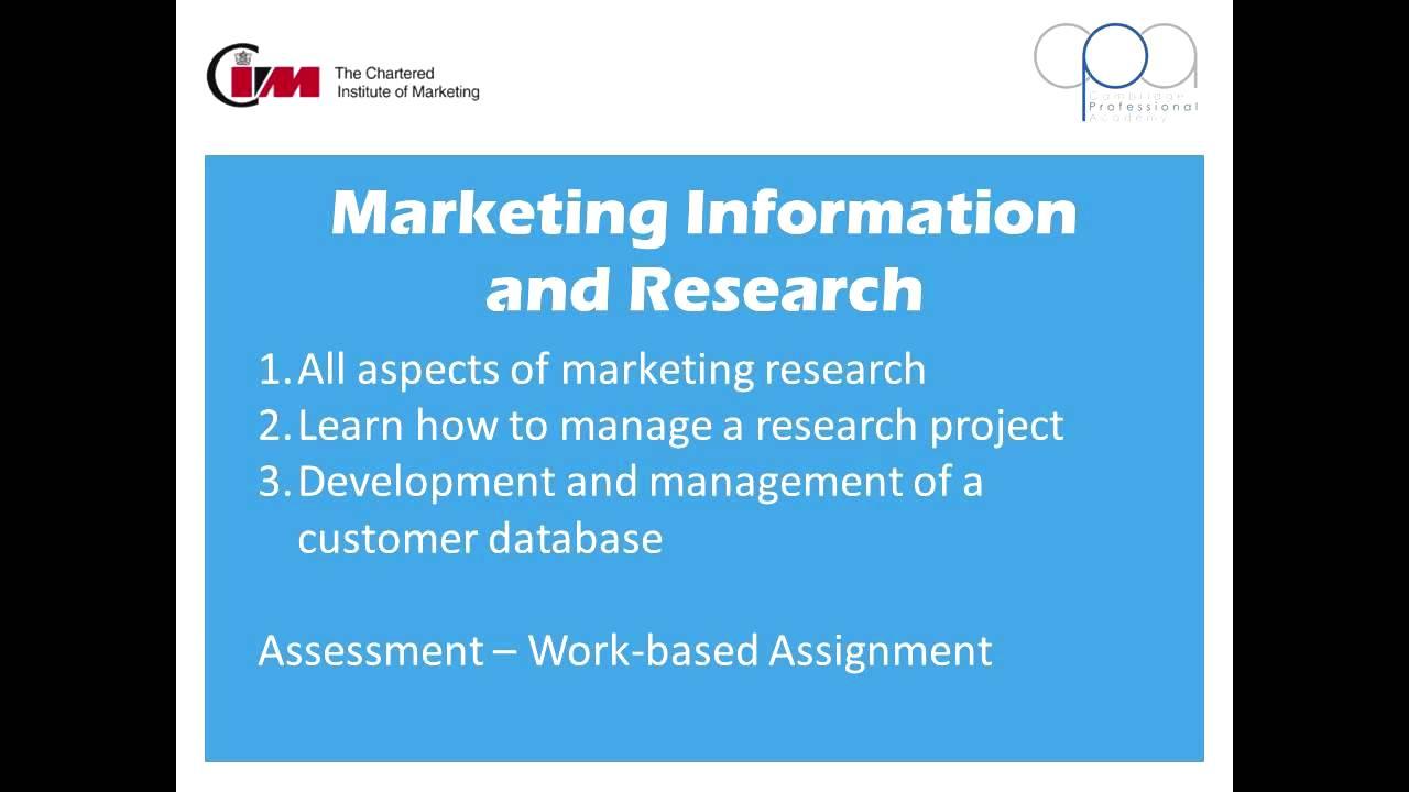 Cim Professional Certificate In Marketing Level 4 Youtube
