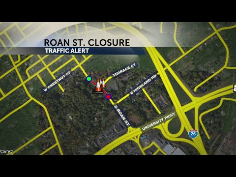 Part of South Roan Street closed for sewer line repair