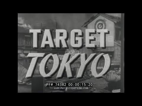 "B-29 AIR RAID BOMBING IN TOKYO FILM NARRATED BY RONALD REAGAN ""TARGET TOKYO"" 74382"