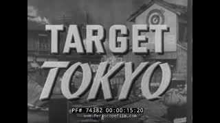 B-29 AIR RAID BOMBING IN TOKYO FILM NARRATED BY RONALD REAGAN