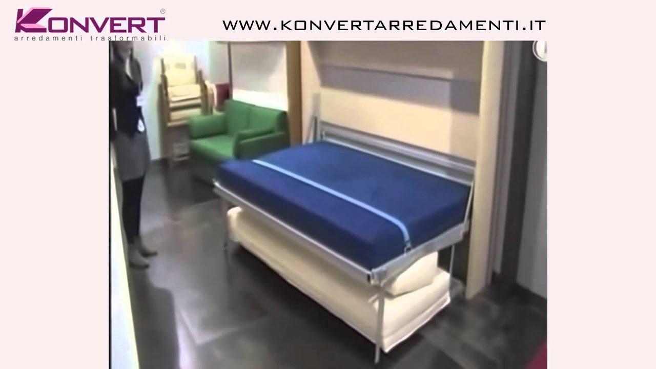Eccezionale Letto a scomparsa Smart Beds HOUDINI ORIZZONTALE Colombo907 - YouTube JS54