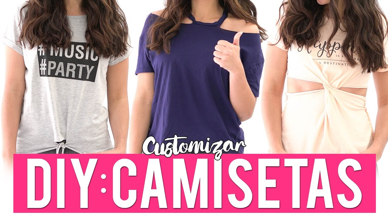 412e71652 3 ideas para customizar camisetas