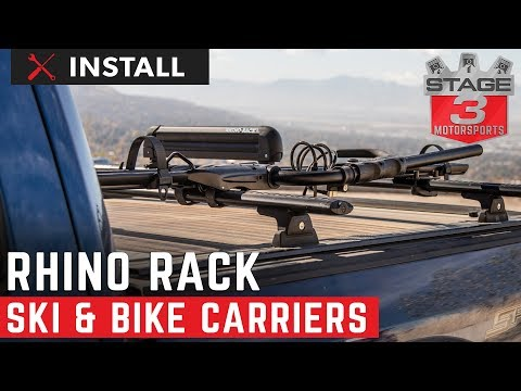 Ford  F150 Rhino Rack Ski Carrier/Fishing Rod Holder & Hybrid Bike Carrier Install And Review
