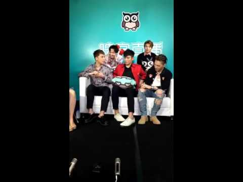 [160716/no subs] BIGBANG's live talk with inke in Beijing/cam 2
