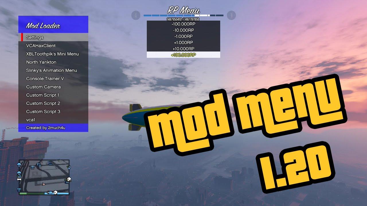 GTA V Online MOD MENU 120122 Download Xbox 360 YouTube