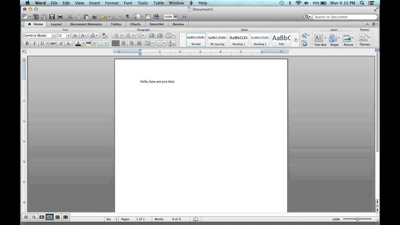How To Italicize On Microsoft Word On A Macbook Pro Tutorial