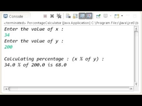 Java - Percentage Formula Calculation