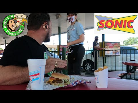 Sonic Double Bacon Burger Meal Drive Thru Speed Challenge