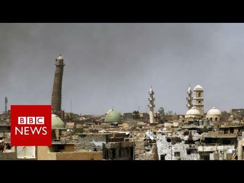 EXCLUSIVE: Destruction of al-Nuri mosque in Mosul- BBC News