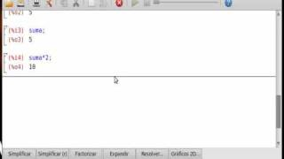 wxMaxima: como una calculadora