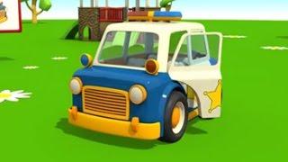 Leo der neugierige Lastwagen - Leo baut ein Polizeiauto! | Animation für Kinder