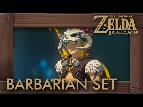Zelda Breath Of The Wild - Barbarian Set Location (Attack Bonus Armor) Labyrinth Shrines