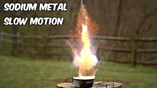 Sodium Metal in Water in Slow Motion