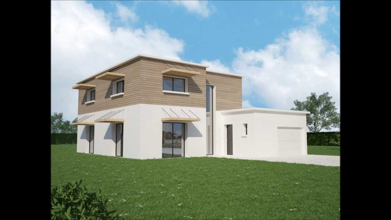 Plan maison contemporaine rt2012 ma maison vosges 88 for Maison contemporaine